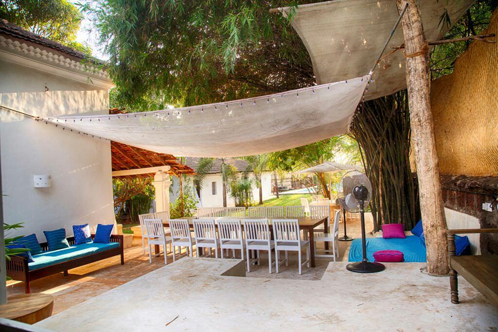 Luxury Villas in Goa, Villa Poo, Outdoor Seating