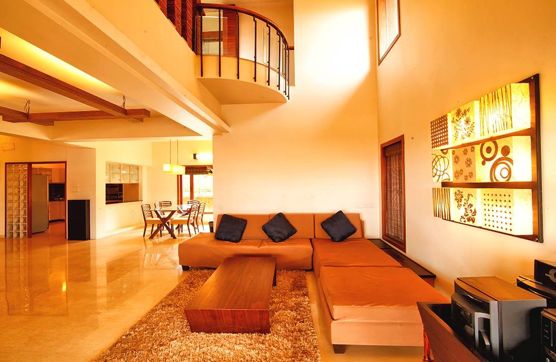 Villas in Goa, Sky View, Living Room