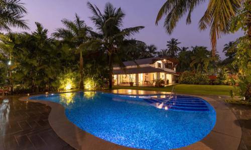 Night Shot of Pool